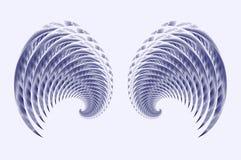 vingar för ängelfågelfe royaltyfri illustrationer