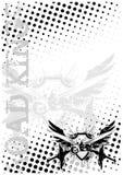 vingar för bakgrundsmotocycleaffisch Arkivfoto