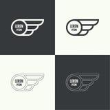 vingar för emblemillustrationvektor Arkivbilder