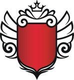 vingar för emblemkronavektor Arkivbild