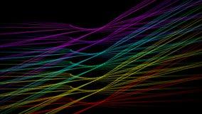 Vingar för slaglängd för regnbågebakgrundsljus stock illustrationer
