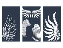 Vingar räcker utdragna kort den djura fjäderdrevfågeln den naturliga illustrationen för freddesignvektorn Arkivfoto
