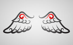 vinge vektor illustrationer