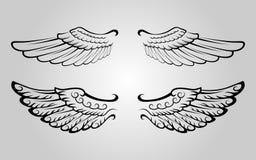 vinge 4 royaltyfri illustrationer