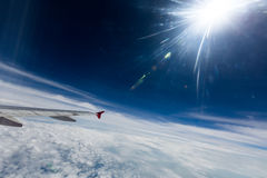 Vinge av ett flygplan royaltyfri bild