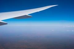 Vinge av flygplan arkivfoto