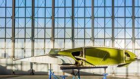 Vinge av flygplan i reparation Arkivbild