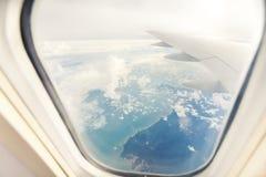 Vinge av flygplanet arkivfoton