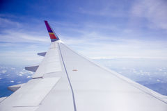 Vinge av nivån på himmelbakgrund Royaltyfri Fotografi