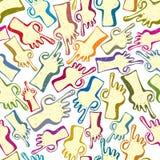 Vinger die handen naadloos patroon richt. Royalty-vrije Stock Afbeelding