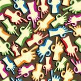 Vinger die handen naadloos patroon richt. Royalty-vrije Stock Foto