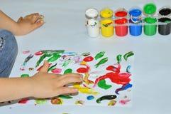 Vinger het schilderen Royalty-vrije Stock Afbeelding