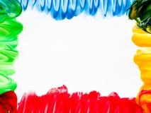 Vinger het schilderen kader Stock Afbeeldingen