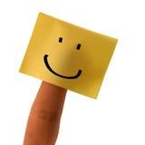 Vinger met glimlach Stock Foto's