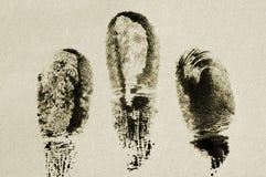 Vingerafdruk. Stock Foto