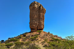 Vingerklip - Namibia. The Vingerklip (Rock Finger) in Namibia is a geological leftover of the Ugab Terrace. The Rock Finger stands on a hill top and has a height Stock Images