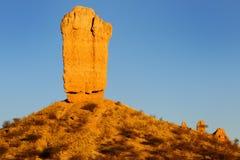 Vingerklip rock. At sunrise in Namibia Stock Photos