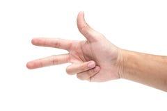 3 vingerorde in Duitsland Stock Foto's