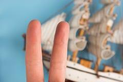 vingers als bemanning van het piraatschip royalty-vrije stock foto's