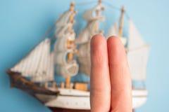 vingers als bemanning van het piraatschip royalty-vrije stock foto