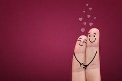 Vingers in liefde. Stock Afbeeldingen