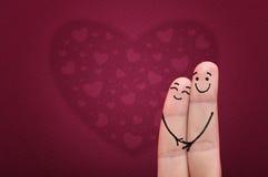 Vingers in liefde. Royalty-vrije Stock Afbeelding