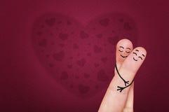 Vingers in liefde. Royalty-vrije Stock Foto's