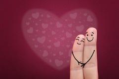 Vingers in liefde. Royalty-vrije Stock Afbeeldingen