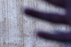 Vingersschaduw op muur Stock Fotografie