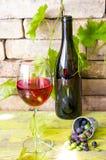 Vinglas av rött vin fotografering för bildbyråer