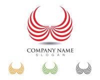 Vinglogosymbol för en yrkesmässig formgivare stock illustrationer