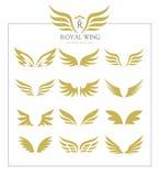 Vingsymbolsuppsättning Royaltyfri Bild