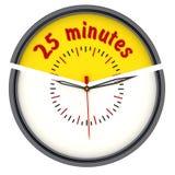 Vingt-cinq minutes sur l'horloge illustration de vecteur