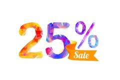 25 vingt-cinq pour cent de vente illustration de vecteur