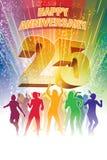 Vingt-cinquième anniversaire Image stock