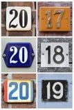 Vingt dix-huit dans les nombres Images libres de droits