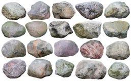 Vingt grands rochers de forêt de granit réglés Photos stock