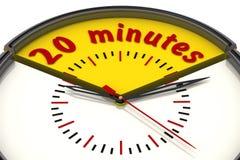 Vingt minutes sur l'horloge illustration stock