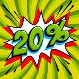 20  Vingt pour cent 20 outre de vente illustration libre de droits