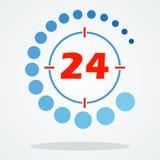 Vingt-quatre heures sur vingt-quatre 24 Photos libres de droits