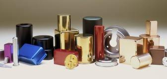 Vingt-quatre parties en métal Images stock