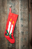 Vingtage homemade Christmas stocking Royalty Free Stock Photo