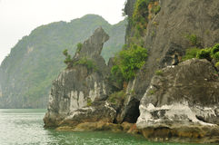 Vinh Halong Bay Unique Rock formations Royalty Free Stock Photos