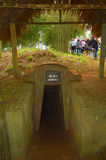 Vinh Moc tunnel Stock Photography