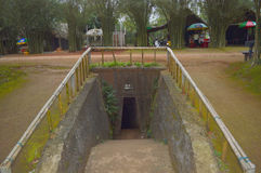 Vinh Moc tunnel Royalty Free Stock Images