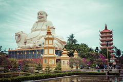 Vinh Tranh Pagoda in My Tho, the Mekong Delta, Vietnam.  royalty free stock photography