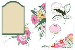 Vinheta ajustada da flor do vetor em versões diferentes Fotos de Stock