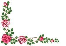 Vinheta circular das rosas Ilustração Royalty Free