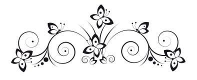Vinheta com borboletas Fotografia de Stock Royalty Free
