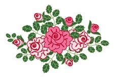 Vinheta das rosas Ilustração do Vetor